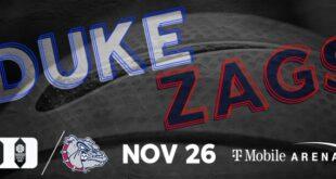 Duke Blue Devils vs. Gonzaga Bulldogs College Basketball Game, Las Vegas, T-Mobile Arena 11/26/21