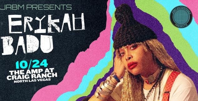 Erykah Badu Tickets! Amp at Craig Ranch, North Las Vegas, 10/24/21